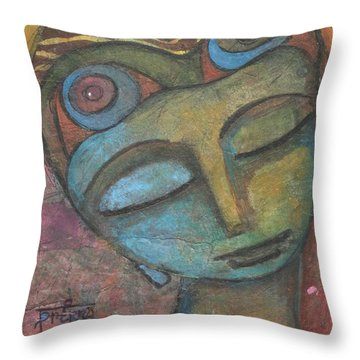 Meditative Awareness Throw Pillow