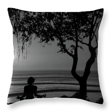 Meditative State Throw Pillow