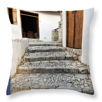 Mediteranean Old House Throw Pillow by Mike Santis