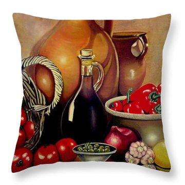 Mediterranean Appetite Throw Pillow