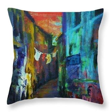 Mediterranean Dusk Throw Pillow by Margaret  Plumb
