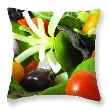 Mediterranean Salad Throw Pillow
