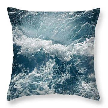 Mediterranean Sea Art 53 Throw Pillow