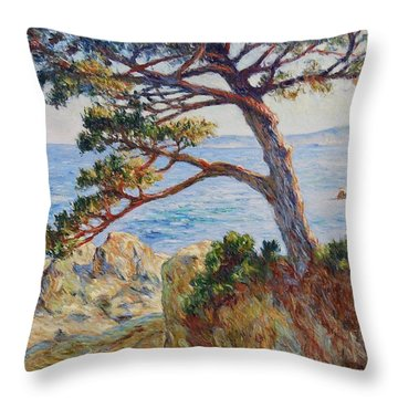 Mediterranean Sea Throw Pillow by Pierre Van Dijk