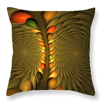 Meditirina Seed Pod Throw Pillow
