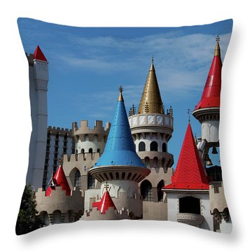 Medival Castle Throw Pillow