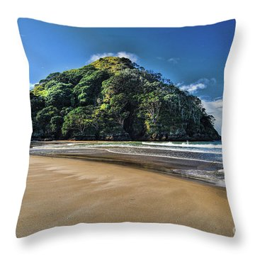 Medlands Beach Throw Pillow by Karen Lewis