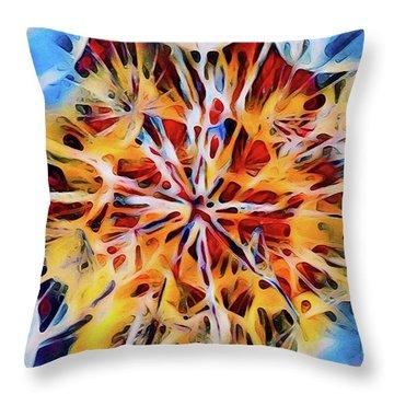 Medow Dandelion Throw Pillow by Adam Olsen
