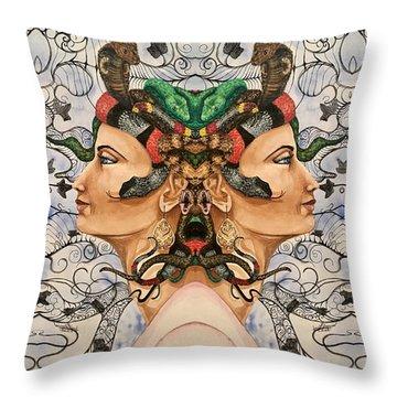 Medusa 4 Throw Pillow