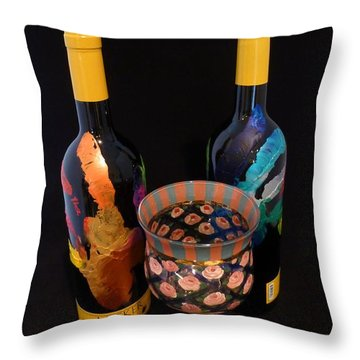 Meeker Merlot Merriment Throw Pillow