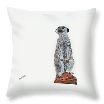 Meer Curiosity Throw Pillow