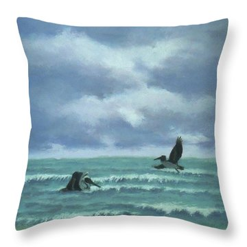 Meet Me At Hatteras Throw Pillow