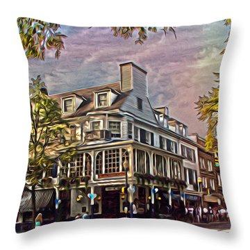 Meet Me At The Corner Throw Pillow