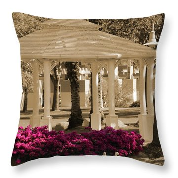 Meet Me At The Gazebo Throw Pillow