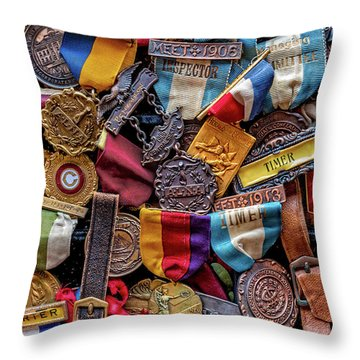 Throw Pillow featuring the photograph Meet Medals by Christopher Holmes