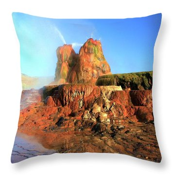 Meet The Fly Geyser Throw Pillow