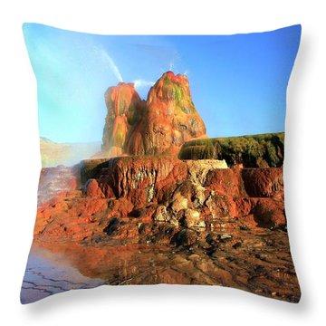 Meet The Fly Geyser Throw Pillow