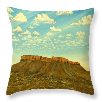 Meet The Posse At Little Crooked Mesa Throw Pillow