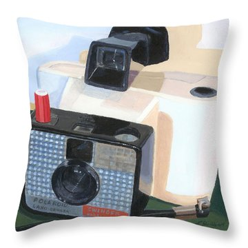 Throw Pillow featuring the painting Meet The Swinger by Lynne Reichhart