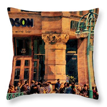 Meet You At Hudson's Throw Pillow