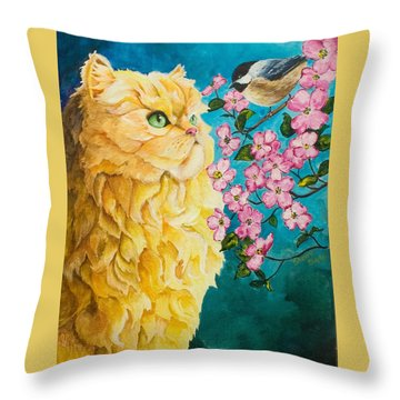 Meeting Eye To Eye Throw Pillow