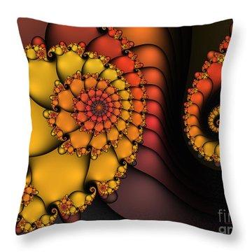 Throw Pillow featuring the digital art Meeting by Karin Kuhlmann
