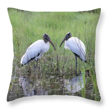 Meeting Of The Minds Throw Pillow by Carol Groenen