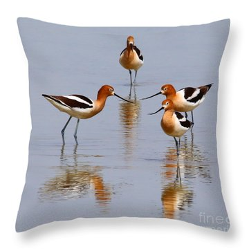 Meeting Of The Minds Throw Pillow by Marty Fancy