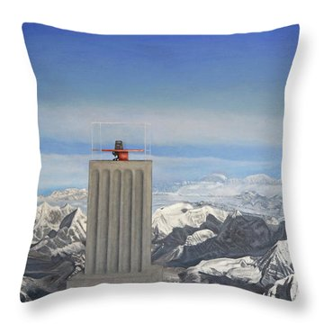 Meeting Table Oil On Canvas Throw Pillow