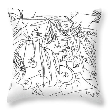 Meeting Under The Stars Throw Pillow