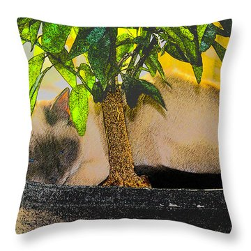Meezer Tree Throw Pillow