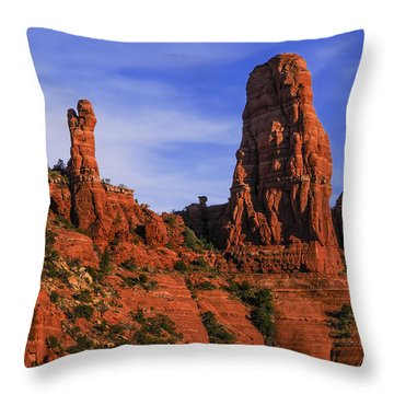 Megalithic Red Rocks Throw Pillow