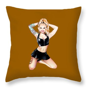 Megan 2 Throw Pillow by Brian Gibbs