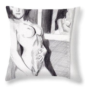 Megan-mirror Throw Pillow