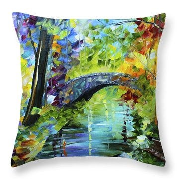 Megan's Bridge Throw Pillow