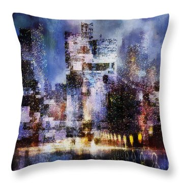 Megapolis II Throw Pillow