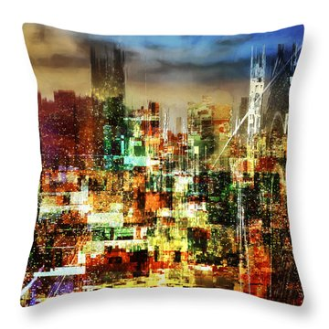 Megapolis Throw Pillow