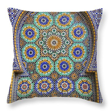 Throw Pillow featuring the photograph Meknes by Ramona Johnston