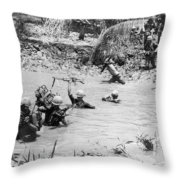 Mekong Delta Mission Throw Pillow