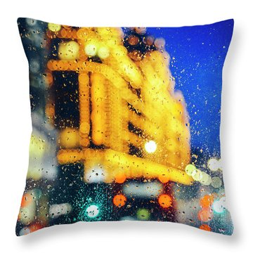 Melancholic London Lights  Throw Pillow