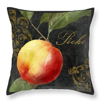 Melange Peach Peche Throw Pillow by Mindy Sommers