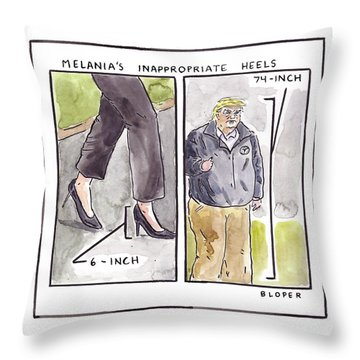 Melania's Inappropriate Heels Throw Pillow