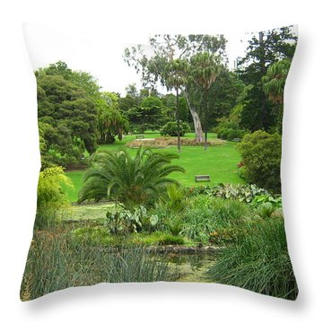 Melbourne Botanical Gardens Throw Pillow