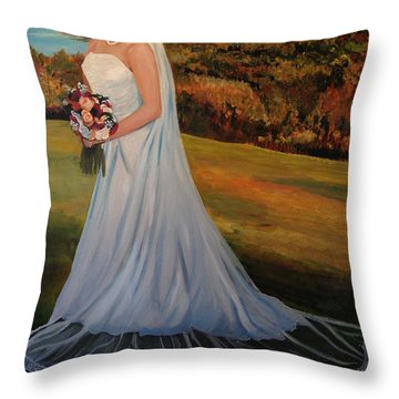 Throw Pillow featuring the painting Melissa by Alan Lakin