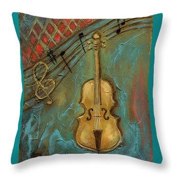 Mello Cello Throw Pillow