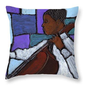 Mellow Blues Throw Pillow
