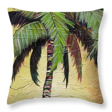 Mellow Palm I Throw Pillow