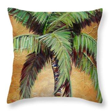 Mellow Palm II Throw Pillow by Kristen Abrahamson