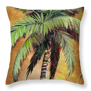 Mellow Palm IIi Throw Pillow by Kristen Abrahamson