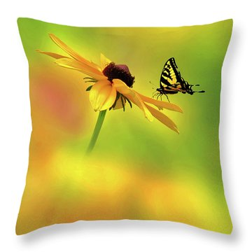 Mellow Yellow Throw Pillow by John Poon
